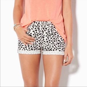 American Eagle Leopard Print Jean Shorts 8